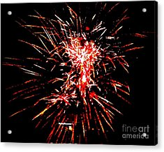 Red White Acrylic Print by Shelia Kempf