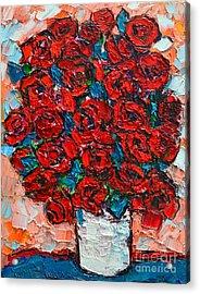 Red Wild Roses Acrylic Print by Ana Maria Edulescu