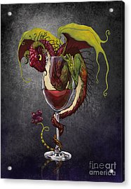 Red Wine Dragon Acrylic Print by Stanley Morrison