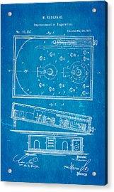 Redgrave Bagatelle Patent Art 1871 Blueprint Acrylic Print by Ian Monk