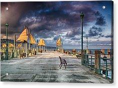 Redondo Pier Acrylic Print by Joseph Hollingsworth