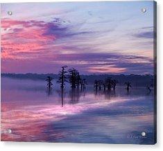 Reelfoot Lake Sunrise Acrylic Print by J Larry Walker