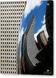 Reflected City Acrylic Print by Joe Bonita