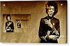 Reflecting On Jimi Hendrix  Acrylic Print by Andrea Kollo