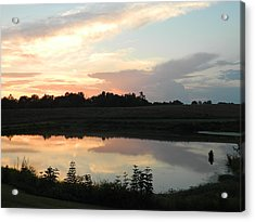 Reflecting Sky Acrylic Print by Linda Brown