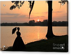 Reflecting Sunrise Belle Acrylic Print by Leslie Kirk