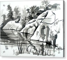 Reflections At Elephant Rocks State Park No I102 Acrylic Print by Kip DeVore