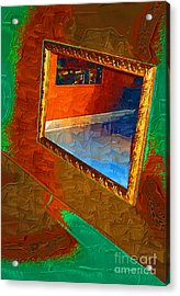 Van Dyke Brown Acrylic Print featuring the painting Reflections In The Mirror by Jonathan Steward