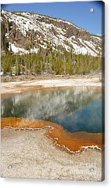 Reflections On Yellowstone Acrylic Print by Birches Photography
