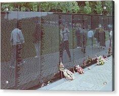 Reflections Vietnam Memorial Acrylic Print by Joann Renner