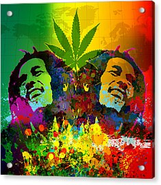 Reggae Pop Acrylic Print by Gary Grayson