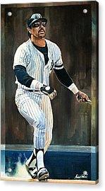 Reggie Jackson New York Yankees Acrylic Print by Michael  Pattison