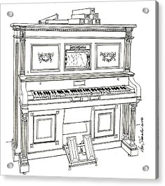 Regina Player Piano Acrylic Print by Ira Shander
