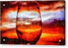 Relaxing Sunset Acrylic Print by Dan Sproul