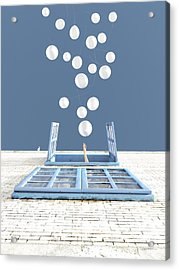 Release Acrylic Print by Cynthia Decker