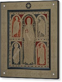 Relief Icon The Nativity Of Christ The Veneration Of The Magi Acrylic Print by Olga  Shalamova