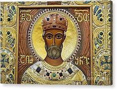 Religious Art Inside The Tsminda Sameba Cathedral Acrylic Print by Robert Preston