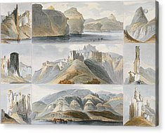 Remarkable Hills On The Upper Missouri Acrylic Print by Karl Bodmer