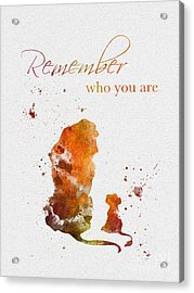 Remember Who You Are Acrylic Print by Rebecca Jenkins