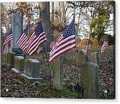 Remembering The Heroes Of Old Acrylic Print by Richard Reeve