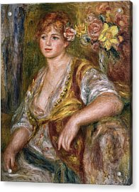 Renoirpierre-auguste 1841-1919. Blonde Acrylic Print by Everett