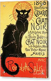 Reopening Of The Chat Noir Cabaret Acrylic Print by Theophile Alexandre Steinlen