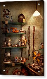 Repair - In The Corner Of A Repair Shop Acrylic Print by Mike Savad