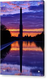 Repairing The Monument IIi Acrylic Print by Metro DC Photography