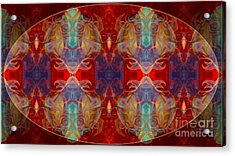 Repeating Realities Abstract Pattern Artwork By Omaste Witkowski Acrylic Print by Omaste Witkowski