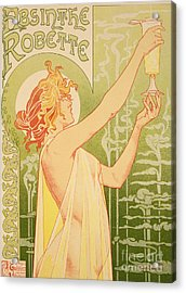 Reproduction Of A Poster Advertising 'robette Absinthe' Acrylic Print by Livemont