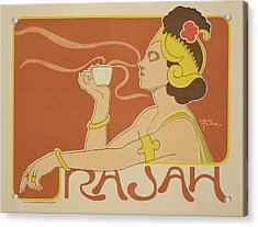 Reproduction Of A Poster Advertising The 'cafe Rajah' Acrylic Print by Henri Georges Jean Isidore