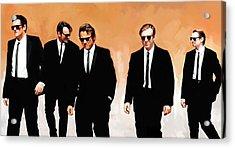 Reservoir Dogs Movie Artwork 1 Acrylic Print by Sheraz A
