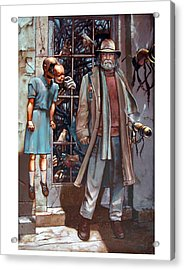 Resistance At The Threshold Acrylic Print by William Stoneham
