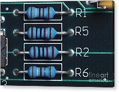 Resistors Acrylic Print by GIPhotoStock