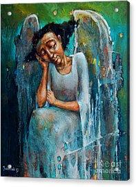 Resting Angel Acrylic Print by Michal Kwarciak