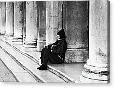 Resting At St. Mark's Square Acrylic Print by John Rizzuto