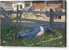 Resting In The Shade Acrylic Print by Giovanni Segantini