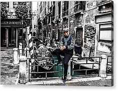 Resting In Venice  Acrylic Print by Steven  Taylor