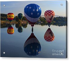 Resting On The Water Acrylic Print by Mike  Dawson