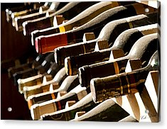 Resting Wine Acrylic Print by Cole Black