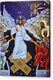 Resurrection Of Jesus Christ Icon Acrylic Print by Ryszard Sleczka