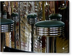Retro Diner Acrylic Print by Paul Wash