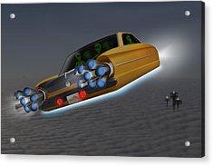 Retro Flying Object 1 Acrylic Print by Mike McGlothlen