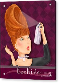 Retro Hairdos-beehive Acrylic Print by Shari Warren