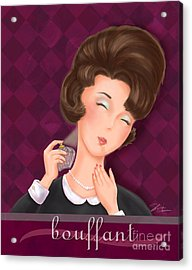 Retro Hairdos-bouffant Acrylic Print by Shari Warren
