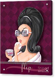 Retro Hairdos-flip Acrylic Print by Shari Warren