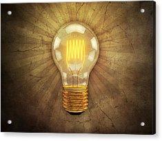 Retro Light Bulb Acrylic Print by Scott Norris