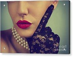 Retro Portrait Acrylic Print by Jelena Jovanovic