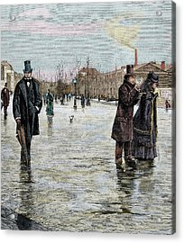 Returning From A Funeral Acrylic Print by Prisma Archivo