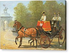 Returning From Her Majestys Drawing Room Acrylic Print by Alfred Corbould